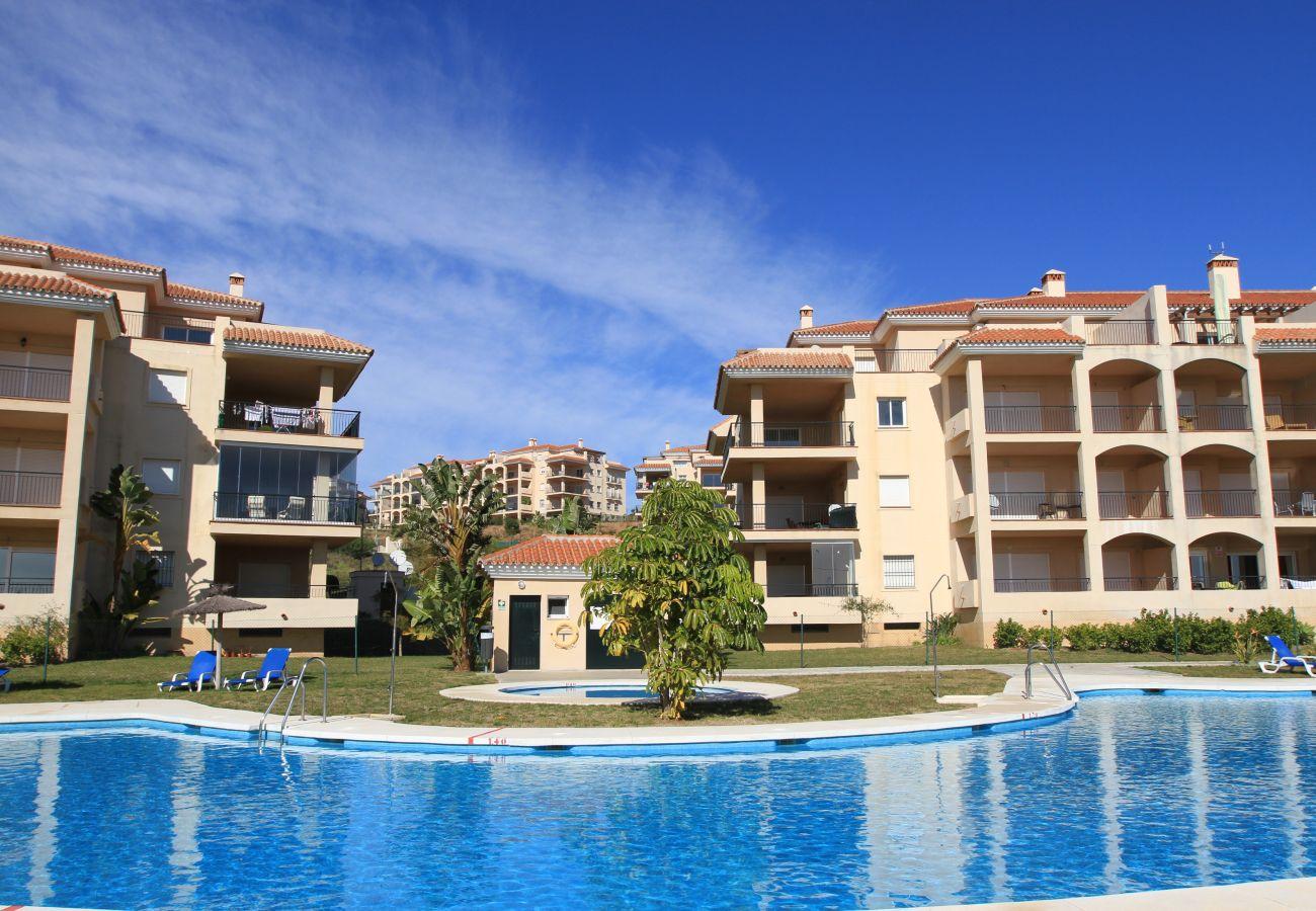 Ferielejlighed i Mijas Costa - La Mirada - Penthouse terrasse med havudsigt