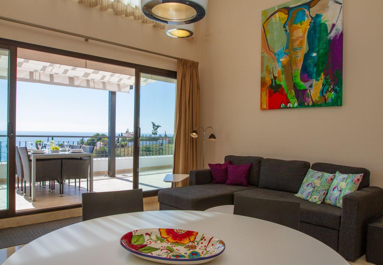 Ferielejlighed i Torrox Costa - Penthouse Calaceite Vistamar - Helt enestående Middelhavsudsigt