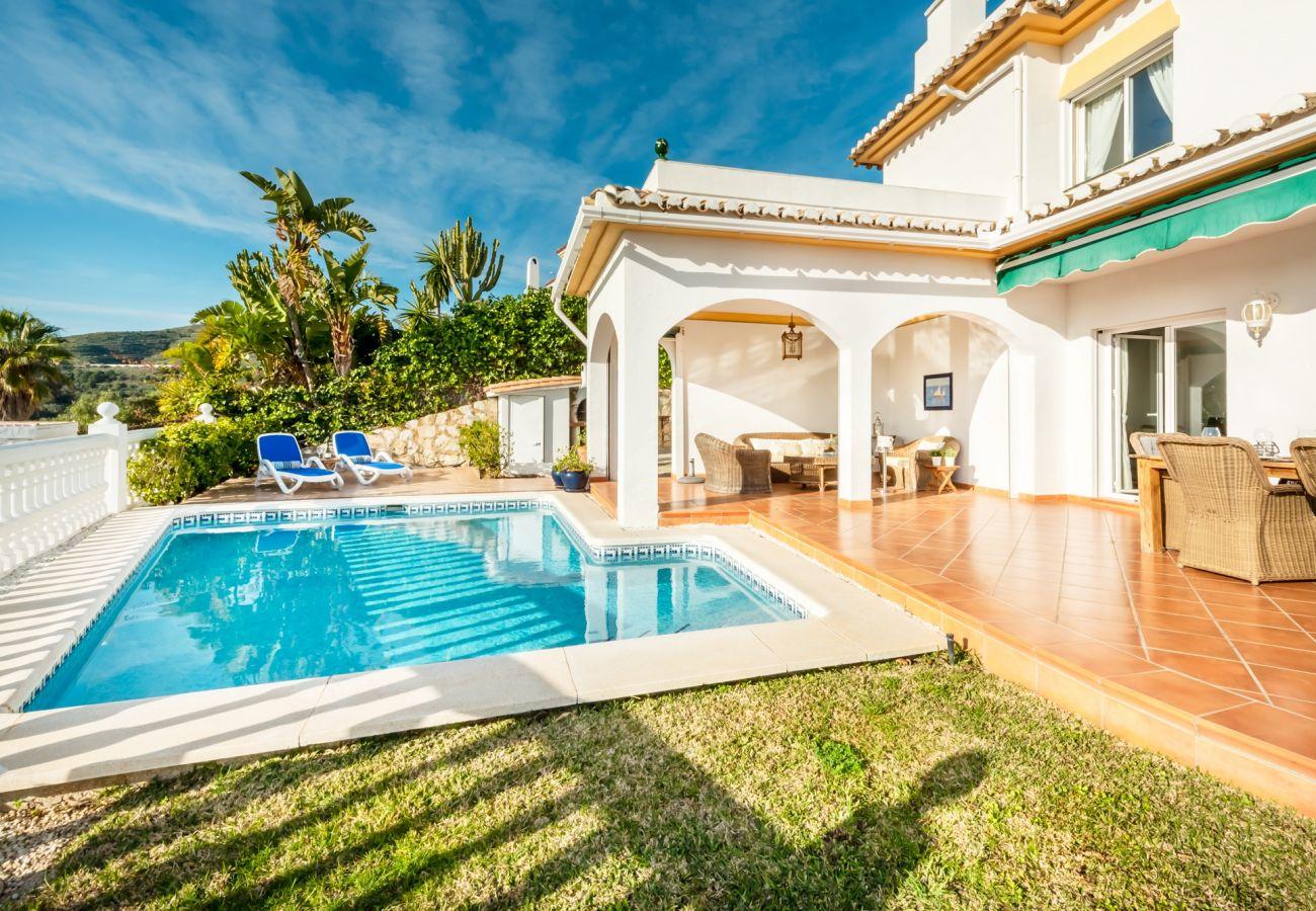 Villa i Mijas Costa - Villa Panorama, Mijas Costa - 4 soveværelser og egen pool