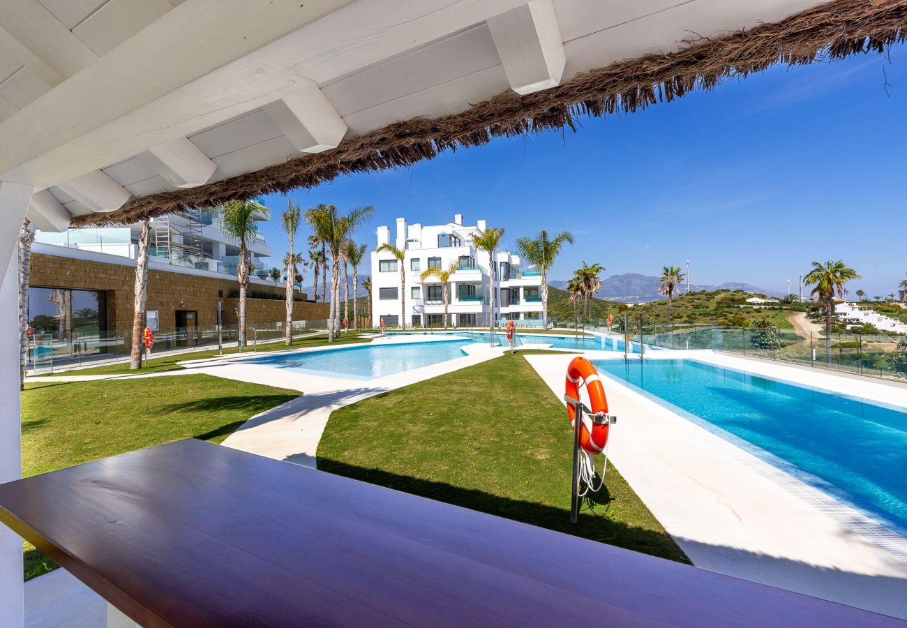 Ferielejlighed i Mijas Costa - Santa Barbara Heights II CLC - Luksus, egen terrasse pool, havudsigt