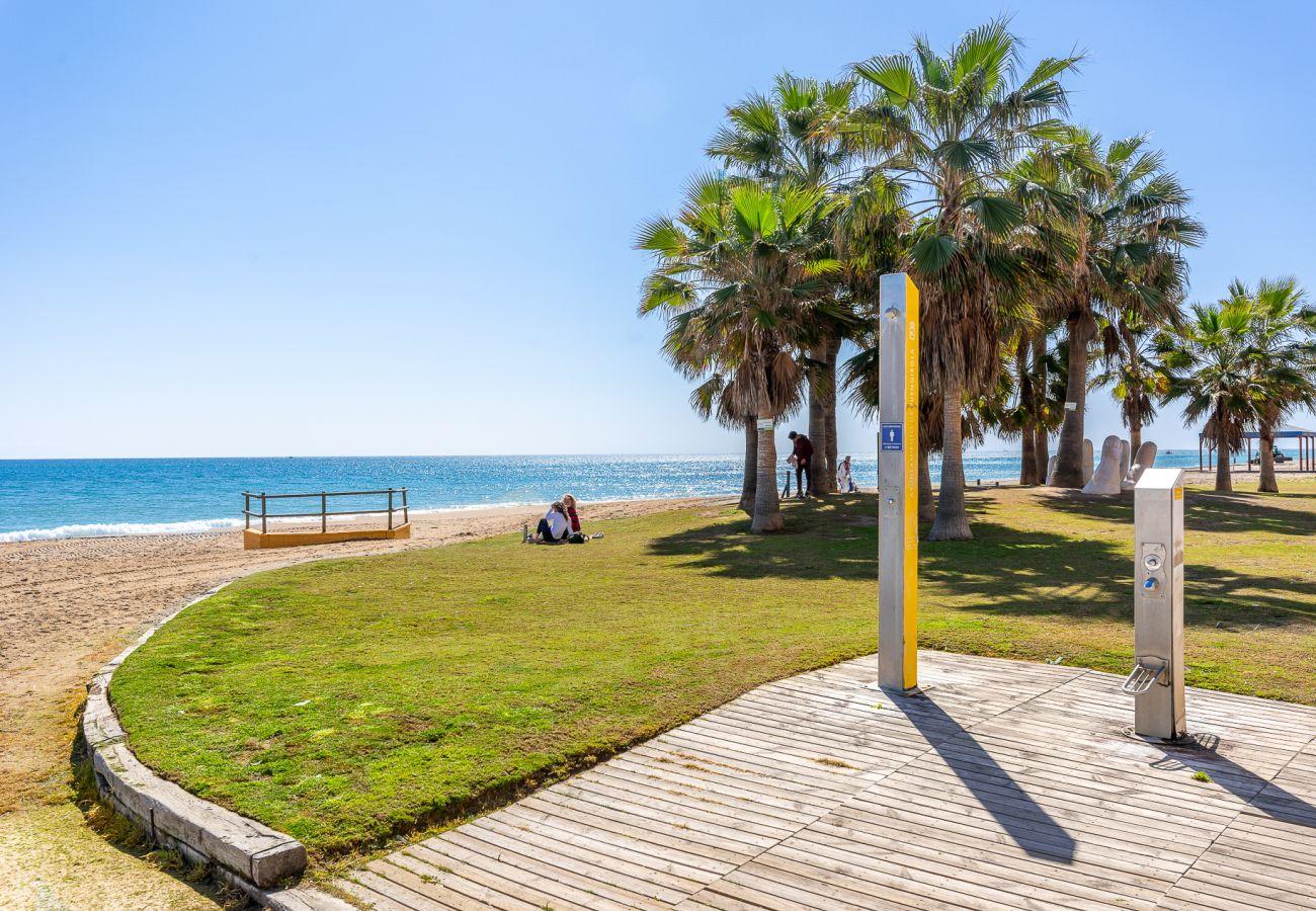 Ferielejlighed i Fuengirola - Maritimo Fuengirola - Strandlejlighed i 1. række til Middelhavet